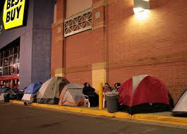 camping out on black friday