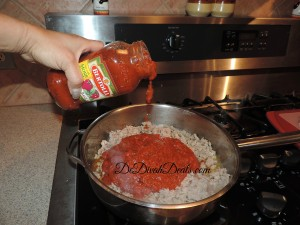 add two jars of spaghetti sauce